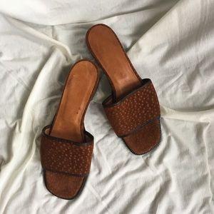 Vintage suede sandals